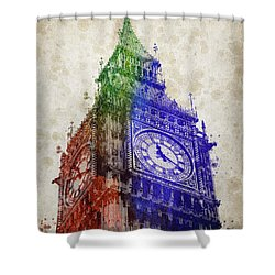 Big Ben London Shower Curtain by Aged Pixel