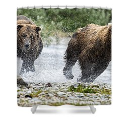 Big Bully On Funnel Creek Katmai National Park Shower Curtain by Dan Friend