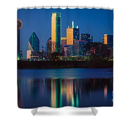 Big D Reflection Shower Curtain by Inge Johnsson