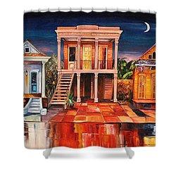 Big Easy Night Shower Curtain by Diane Millsap