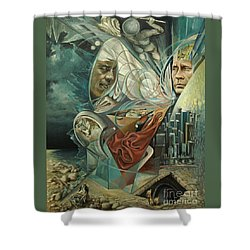 Big Game Or Silence Is Gold Shower Curtain by Mikhail Savchenko