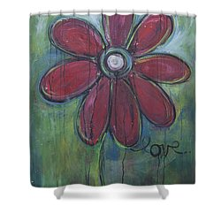 Big Love Daisey Shower Curtain by Laurie Maves ART