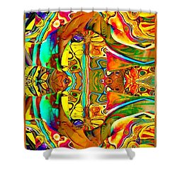 Big Rock Candy Mountain Shower Curtain by Amanda Moore