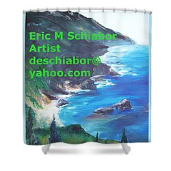 Big Sur Califorina Shower Curtain by Eric  Schiabor