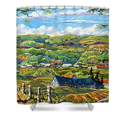 Big Valley By Prankearts Shower Curtain by Richard T Pranke