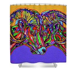 Bighorn Sheep Shower Curtain by Derrick Higgins