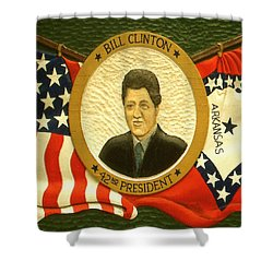 Bill Clinton 42nd American President Shower Curtain by Art America Online Gallery