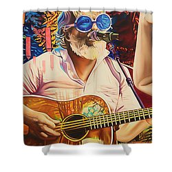 Bill Nershi At Horning's Hideout Shower Curtain by Joshua Morton