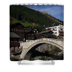 Shower Curtain featuring the photograph Binn by Travel Pics