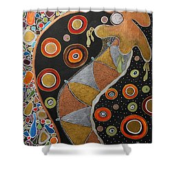 Biological Rhythms.. Shower Curtain by Jolanta Anna Karolska