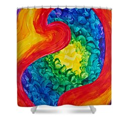 Bird Form II Shower Curtain by Michele Myers