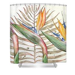 Bird Of Paradise 05 Elena Yakubovich Shower Curtain by Elena Yakubovich