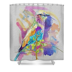 Bird On A Twig Shower Curtain by Catf