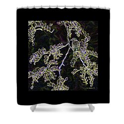 Bird On Branch Shower Curtain by Brian Wallace
