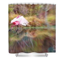 Birds Eye View Shower Curtain by Carol Groenen