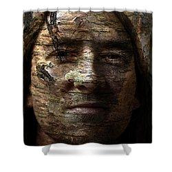 Birtch Green Man Shower Curtain by Christopher Gaston