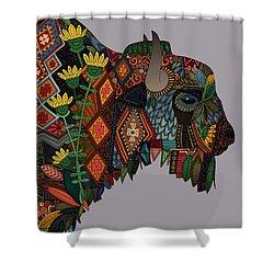 Bison Heather Shower Curtain by Sharon Turner