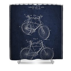 Bisycle Patent Drawing From 1898 Shower Curtain by Aged Pixel