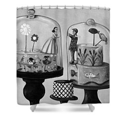 Bittersweet In Bw Shower Curtain by Leah Saulnier The Painting Maniac