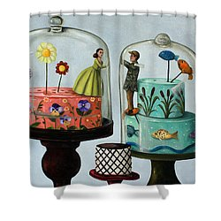 Bittersweet Shower Curtain by Leah Saulnier The Painting Maniac