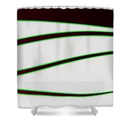 Black And Green Shower Curtain by Joe Kozlowski