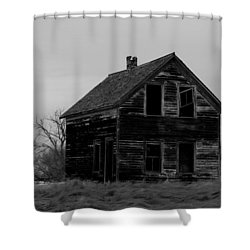 Black And White Forlorned Shower Curtain by Jeff Swan