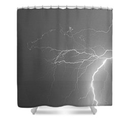 Black And White Tropical Thunderstorm Night  Shower Curtain by James BO  Insogna