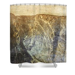 Black Canyon Shower Curtain by Brett Pfister