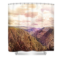 Black Canyon Colorado Shower Curtain by Janice Rae Pariza