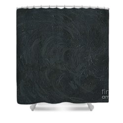 Black Color Of Energy Shower Curtain by Ania M Milo