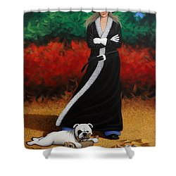 Black Eyed Bully Shower Curtain by Lance Headlee