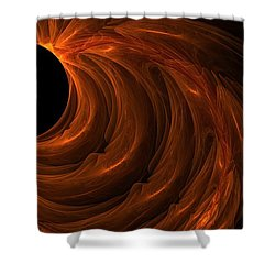 Black Hole Shower Curtain by Lourry Legarde