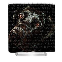 Black Labrador Retriever Dog Art - I Am Dog Shower Curtain by Sharon Cummings