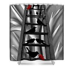 Blackbird Ladder Shower Curtain by Barbara St Jean