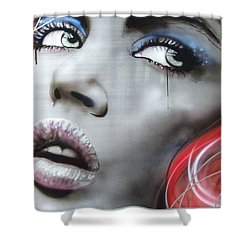'bleeding Rose' Shower Curtain by Christian Chapman Art