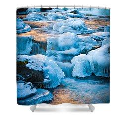 Blewett Pass Creek Shower Curtain by Inge Johnsson