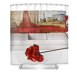 Blood Swept Lands And Seas Of Red Shower Curtain by Amanda Elwell
