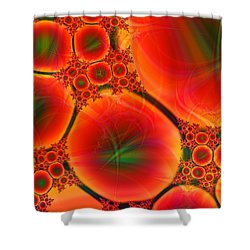 Blood Type Shower Curtain by Anastasiya Malakhova