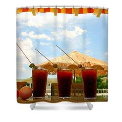 Bloody Mary Trio Shower Curtain by Beth Ferris Sale