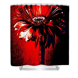 Bloody Mary Zinnia Shower Curtain by Sherry Allen