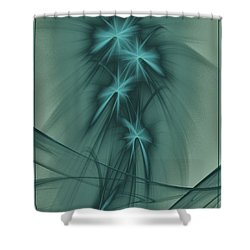 Blooming Stars 2 Shower Curtain by Elizabeth McTaggart