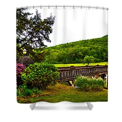 Blowing Spring Park Shower Curtain by David Patterson