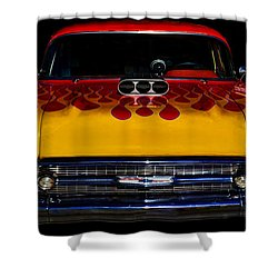 Blown 57 Chevy Shower Curtain by Ken Smith