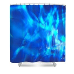 Blue Abstract 2 Shower Curtain by Tony Cordoza