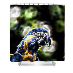 Blue And Gold Macaw V4 Shower Curtain by Douglas Barnard