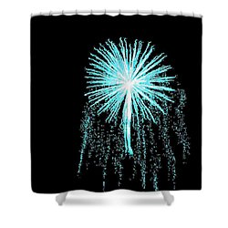 Blue Angel Shower Curtain by Katie Beougher