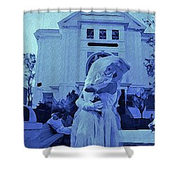 Blue Bride Shower Curtain by John Malone