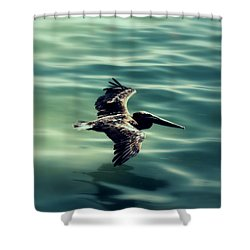 Blue Canvas Shower Curtain by Ed Smith