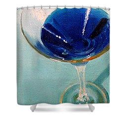 Blue Curacao Shower Curtain by Sarah Parks