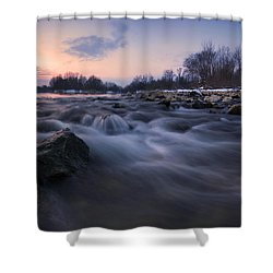 Blue Dream Shower Curtain by Davorin Mance